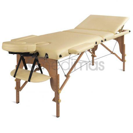 Masážní lehátko skládací dřevěné třízónové Prosport 3