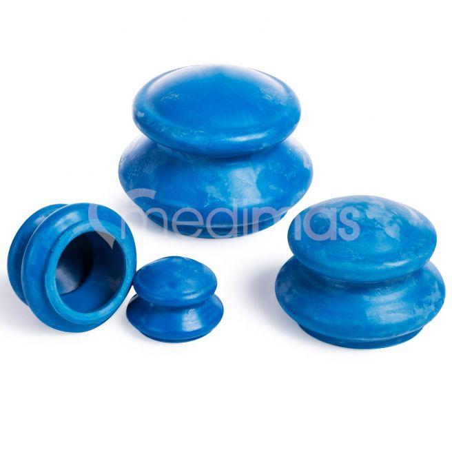 Gumové masážní baňky na celulitidu  4ks